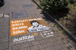 Amazon Audible - Pubblicità a pavimento